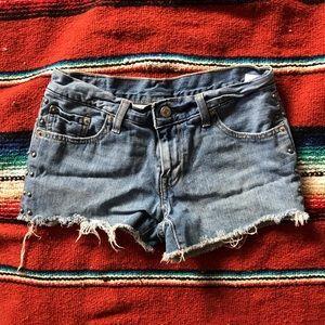 Levi's Studded Cut Off Shorts